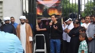 Karbala Ye Bata - Abbas Lalji (APIZ) - London Protest
