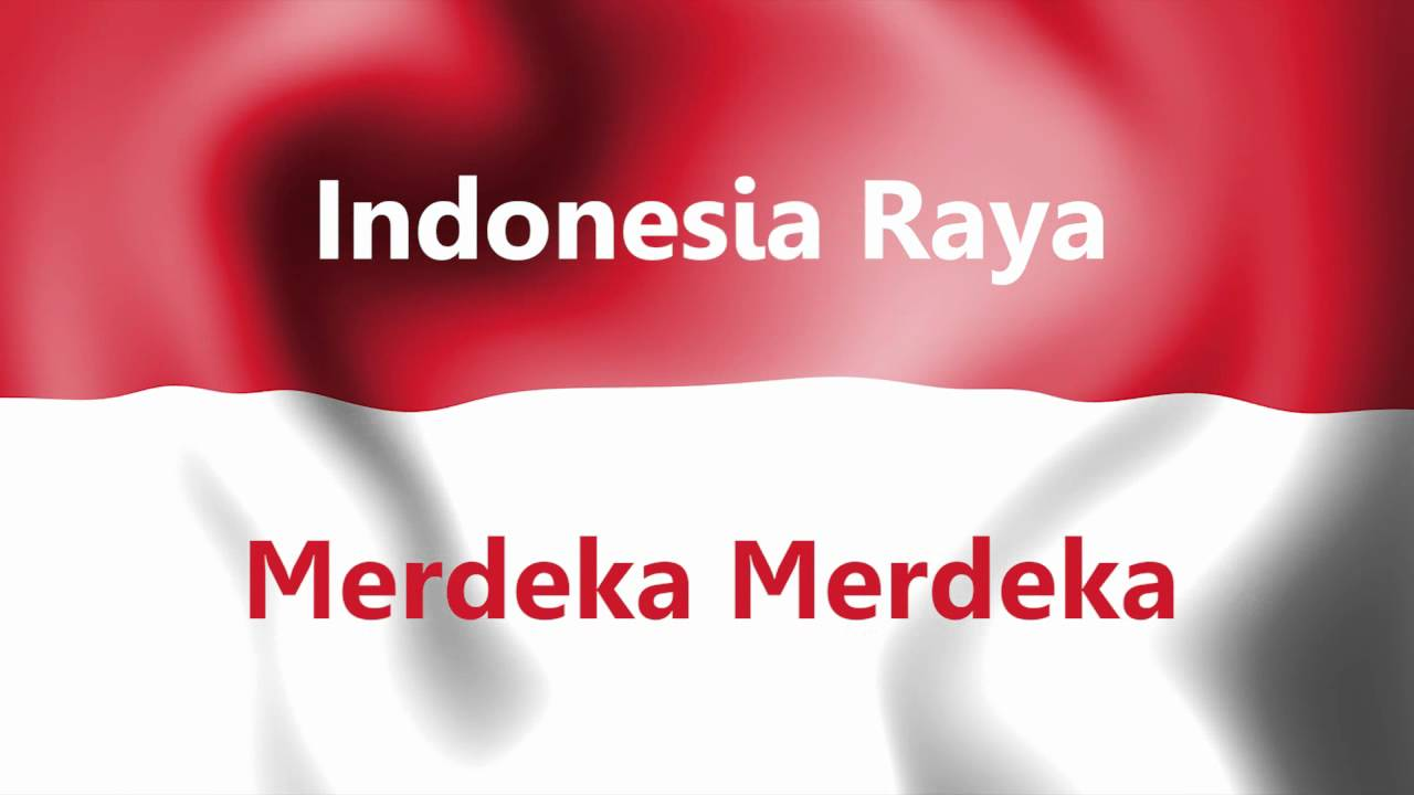 Indonesia Raya With Intro And Text Youtube