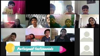 Testimonials from the Kids who participated in the Mind Mapping Workshop   9.5.2020