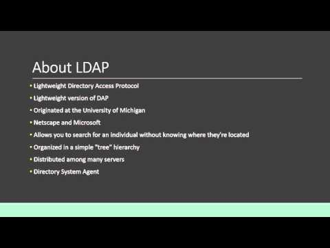 AD and LDAP Presentation