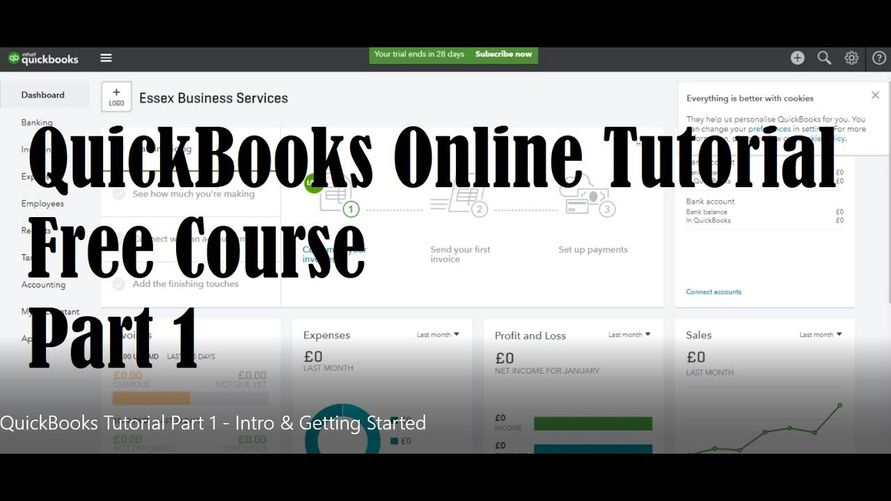 QuickBooks Online Tutorial - Part 1 - Introduction & Getting Started