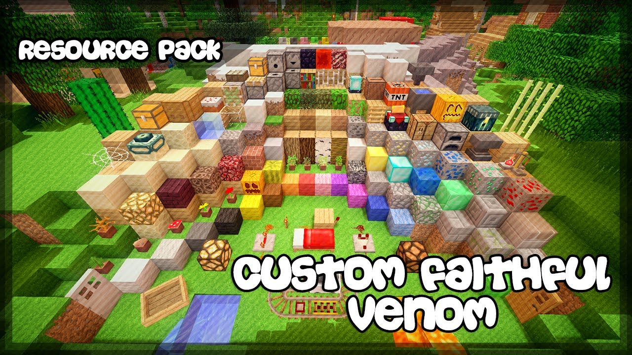 Custom Faithful Venom Resource Pack - 9Minecraft Net