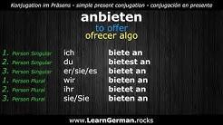 Deutsch Lernen   Verben 110   anbieten ⇔ to offer   Verben im Präsens   #Verben   Learn German HD♫