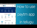 How to use paytm app in telugu