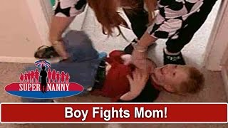 'I Feel Like He Hates Me' Angry 5yr Old Fights With Mom | Supernanny