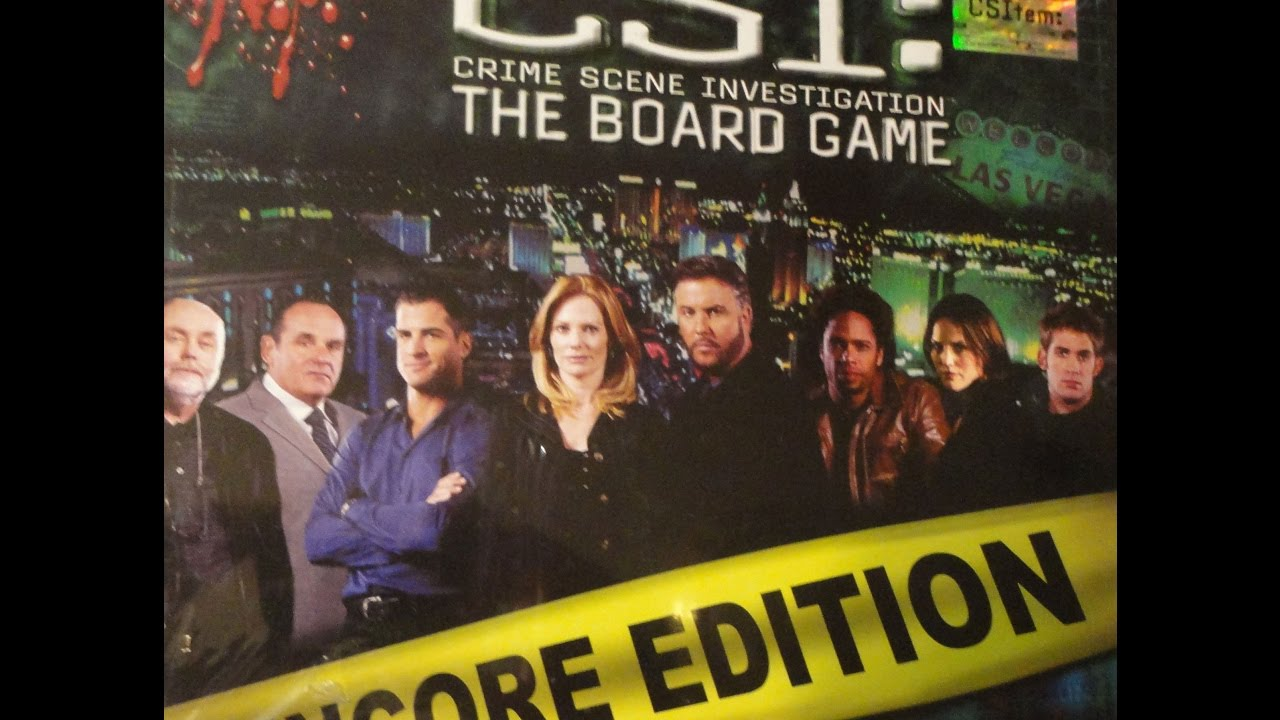 Review of csi the board game encore edition youtube.