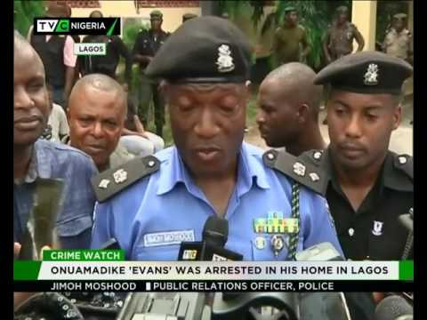 """Police parade Nigeria's most wanted Kidnapping suspect """"Evans"""""""