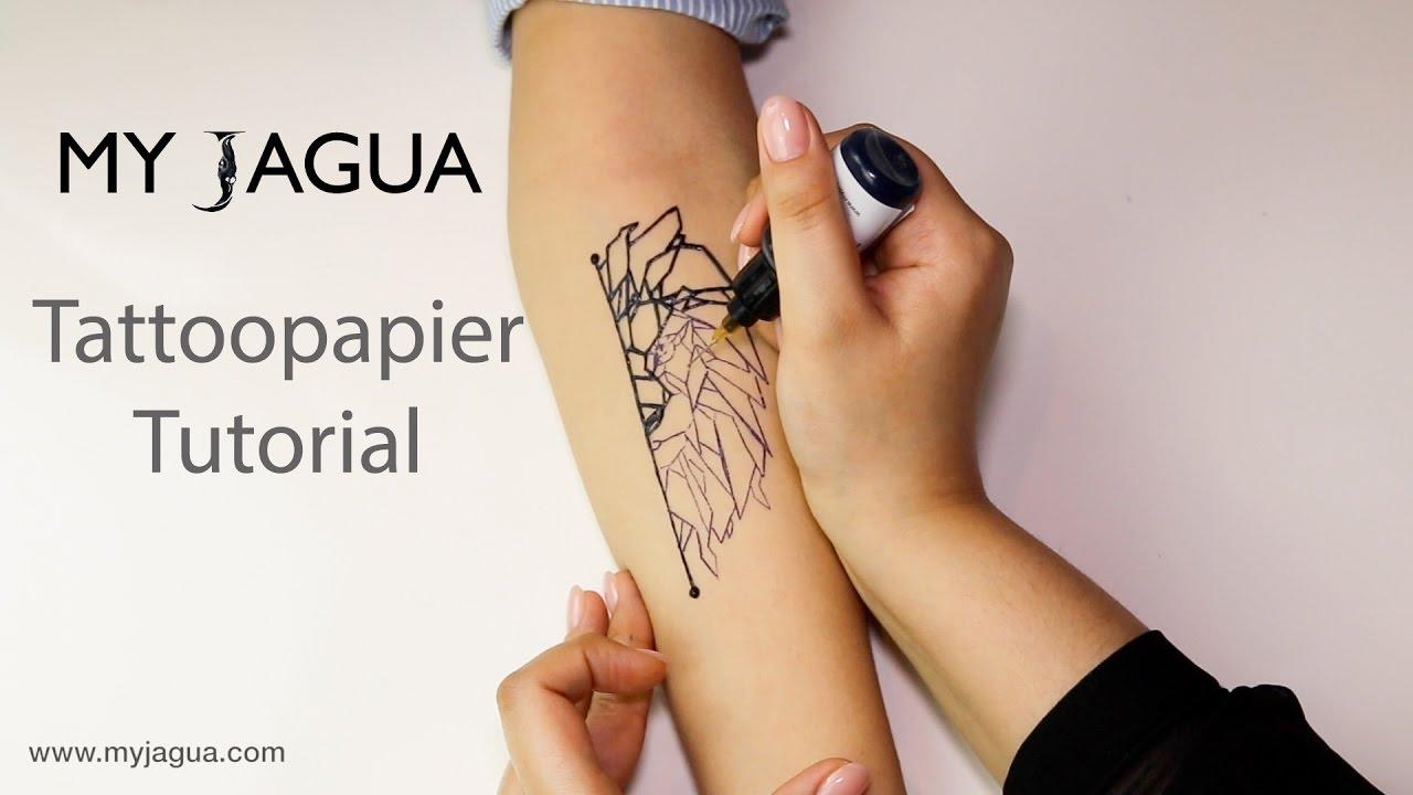 Tattoopapier Tutorial Jagua Tattoo Henna Youtube
