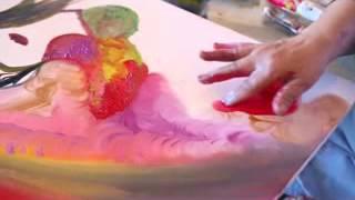 Artiste  peintre KENZA EL MOKDASNI de ilham massak IHB ART MEDIA 2015