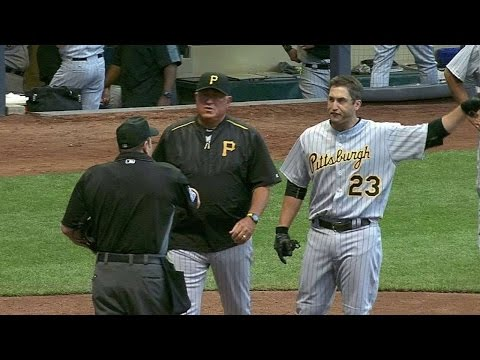 PIT@MIL: Freese ejected for arguing strikeout