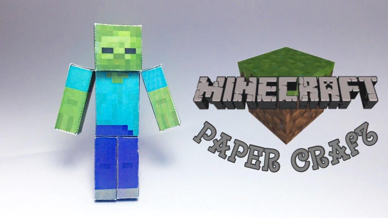 Minecraft Zombie Papercraft !