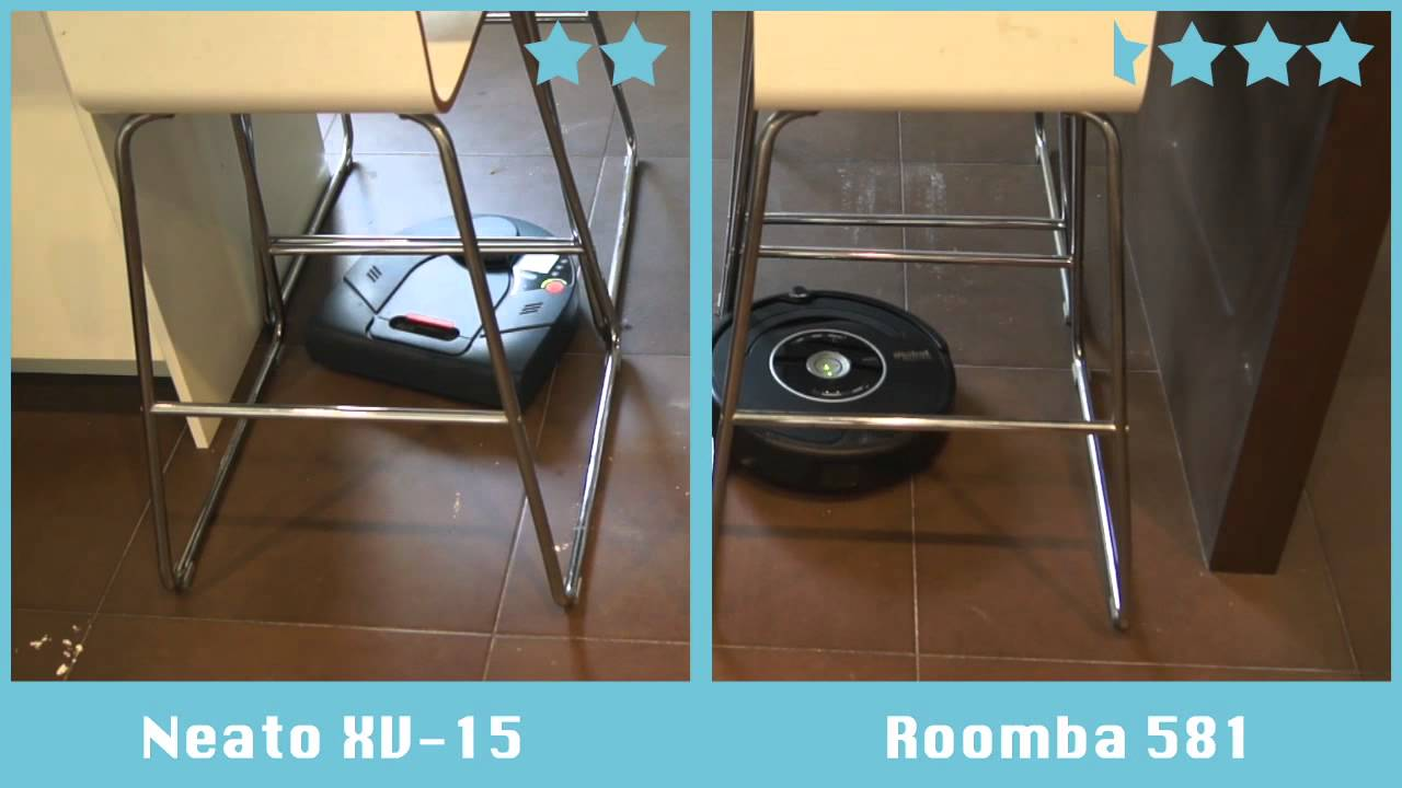 comparativa de robots aspiradores neato xv 15 vs roomba. Black Bedroom Furniture Sets. Home Design Ideas