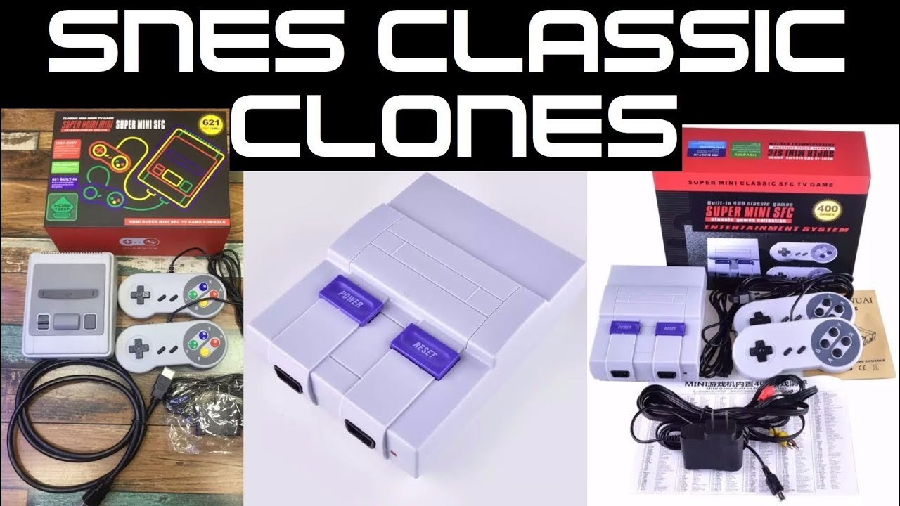 SNES Classic Edition mini FAKE CLONES !!! Attack of the CLONES !!!