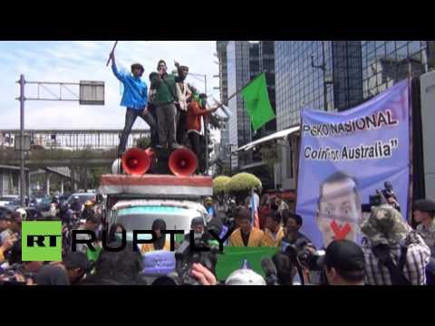 "Indonesia: ""FUCK ABBOTT"" protest hits Australian embassy"