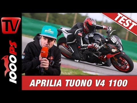 Aprilia Tuono V4 1100 Factory Test Rennstrecke - Fahrfreude pur!