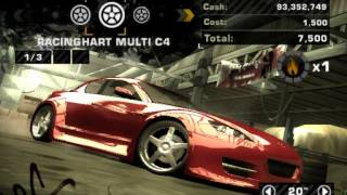 How to build a drift car in NFS MW (2005)