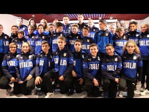 Bonaventura e De Sciglio intervistati da 30 piccoli Reporter Azzurri