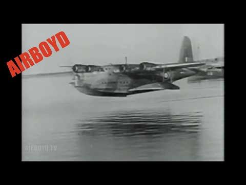 Short Sunderland Flying Boat Takeoff