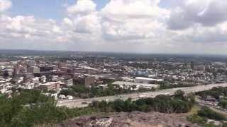 Garrett Mountain Reservation Time Lapse Scenic Overlook over Paterson NJ