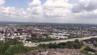 Garrett Mountain Reservation Time Lapse Scenic Overlook over Paterson NJ