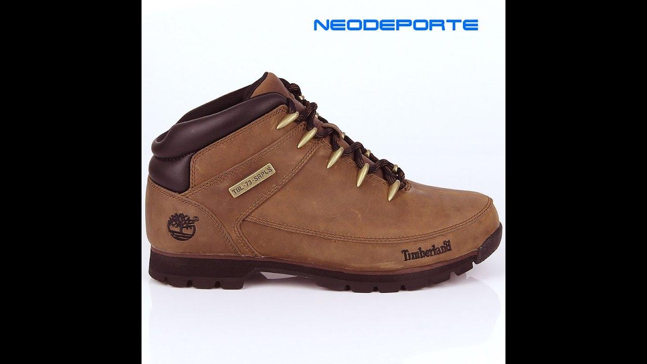 d851e0300df Botas para Hombre Timberland Euro Sprint Hiker - YouTube
