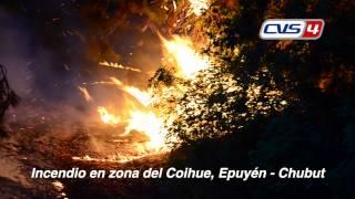 Incendio en zona del Coihue, Epuyèn. Chubut