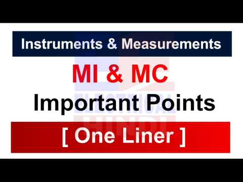 Moving Iron & Moving Coil [ One Liner ]  Instruments & Measurements || Electrical Engg In Hindi ||
