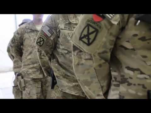 Soldiers Receive Combat Patch In Afghanistan