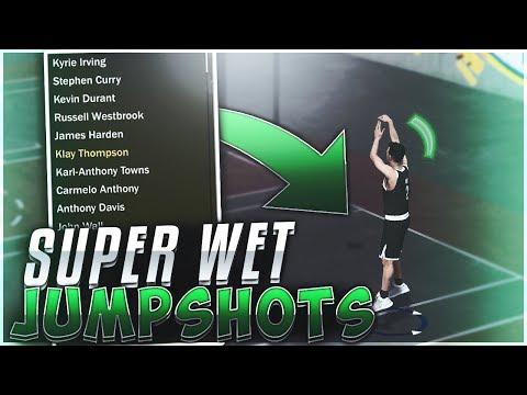 NBA 2k18 TOP 3 BEST JUMPSHOTS | STRAIGHT GREENS