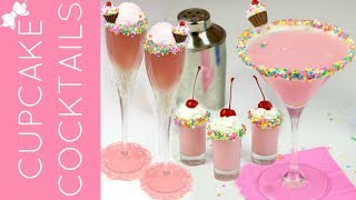 How To Make Cupcake Cocktails & Mocktails: Funfetti Martini, Mimosa & Shots // Lindsay Ann Bakes