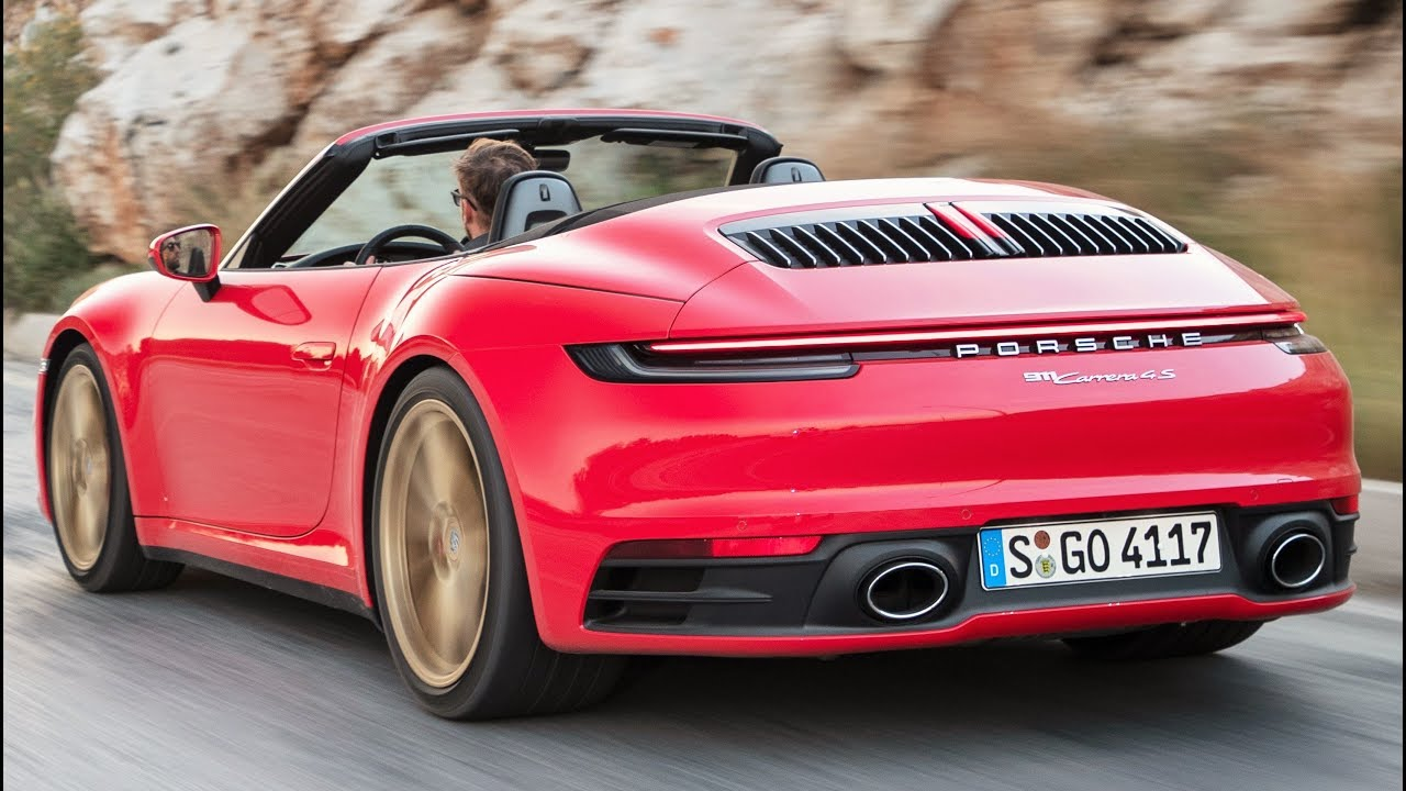 2020 Red Porsche 911 Carrera 4s Cabriolet Pure Driving Pleasure Youtube