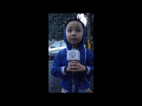 Weather Report on Typhoon Nina by a 7-year old / Dec. 2016