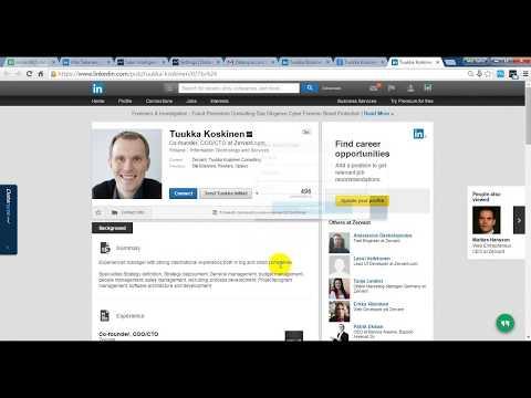 Linkedin Profile E-mail research full complete tutorial