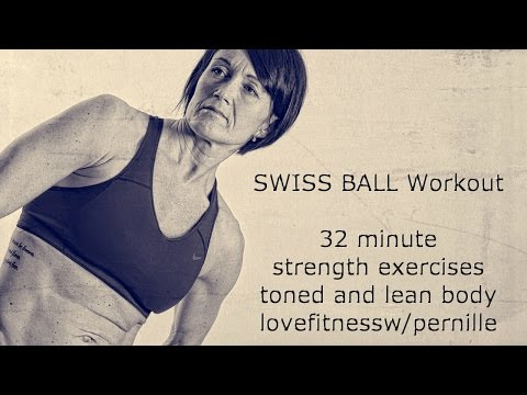 swiss ball strength workout for toned and lean body lovefitness w/pernille