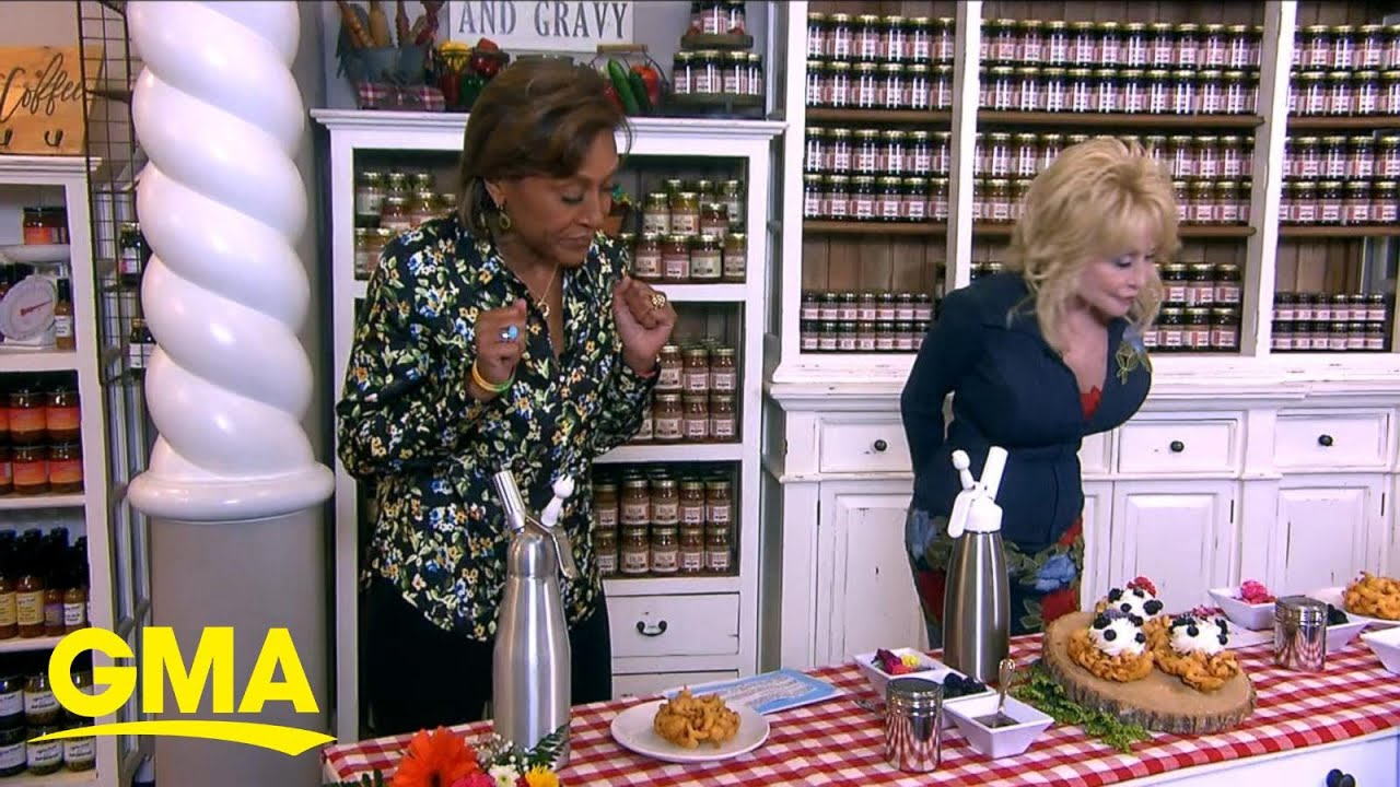Dolly Parton shares a taste of Dollywood Flower and Food Festival ...