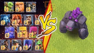 ALL TROOPS VS. GOLEM ! WHO WILL WIN !?! | Clash Of Clans