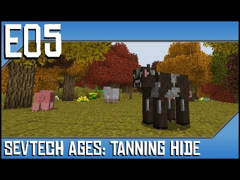 Sevtech Ages-Tanning Hide-Ep5-Modded Minecraft-Flatbread, Drying Racks, and  Thatch