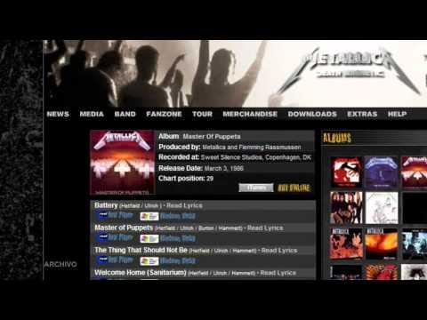 MP3: Metallica - Sitio Oficial