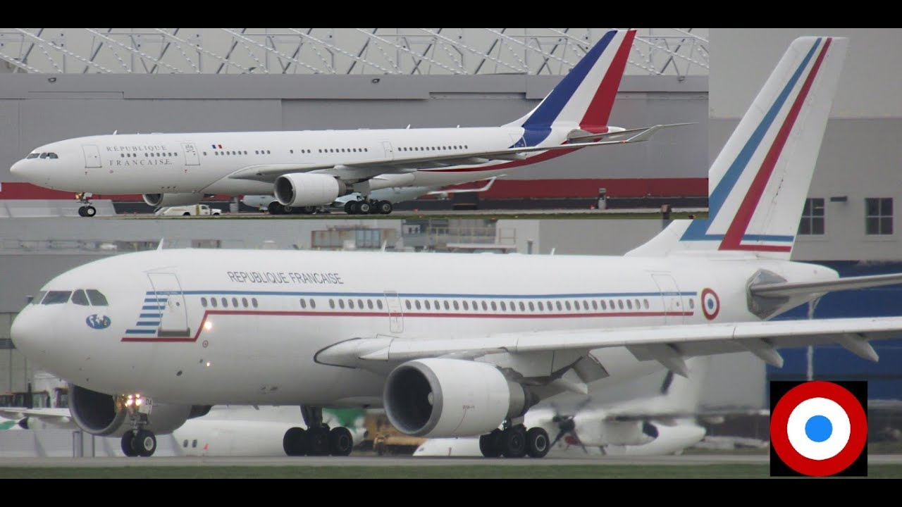 """Download French Air Force """"One"""" A332 & A310 landing and taxiing at YUL on 06R"""