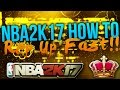NBA2K17 The Fastest way to Rep up! Get Legend as QUICK as possible!!