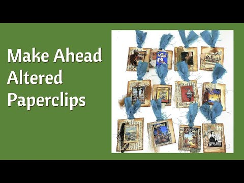 How to Make Embellishments for Junk Journals - Altered Paper clips