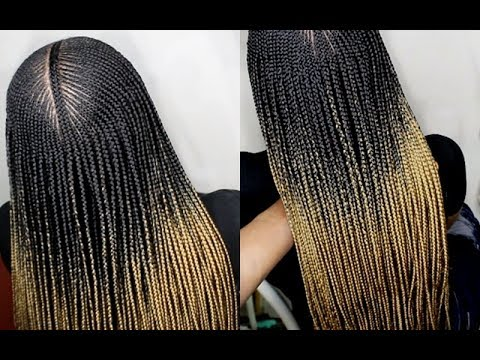HOW TO: DO MICRO BOX BRAIDS WITH CORNROWS (Step By Step)