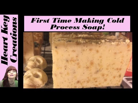 Cold Process Soap Making for the First Time All Natural Oatmeal and Goats Milk Soap