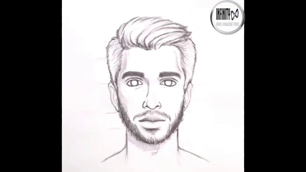 تعلم رسم الوجه بالرصاص للمبتدئين مع خطوات بسيطة Youtube
