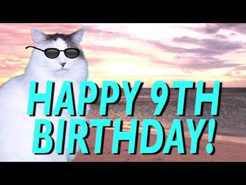 HAPPY 9th BIRTHDAY! - EPIC CAT Happy Birthday Song - YouTube