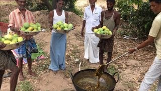 Farm Fresh Mango Halwa - Cooking The Best Sweet for Hard Working People - My Sweet.... Village
