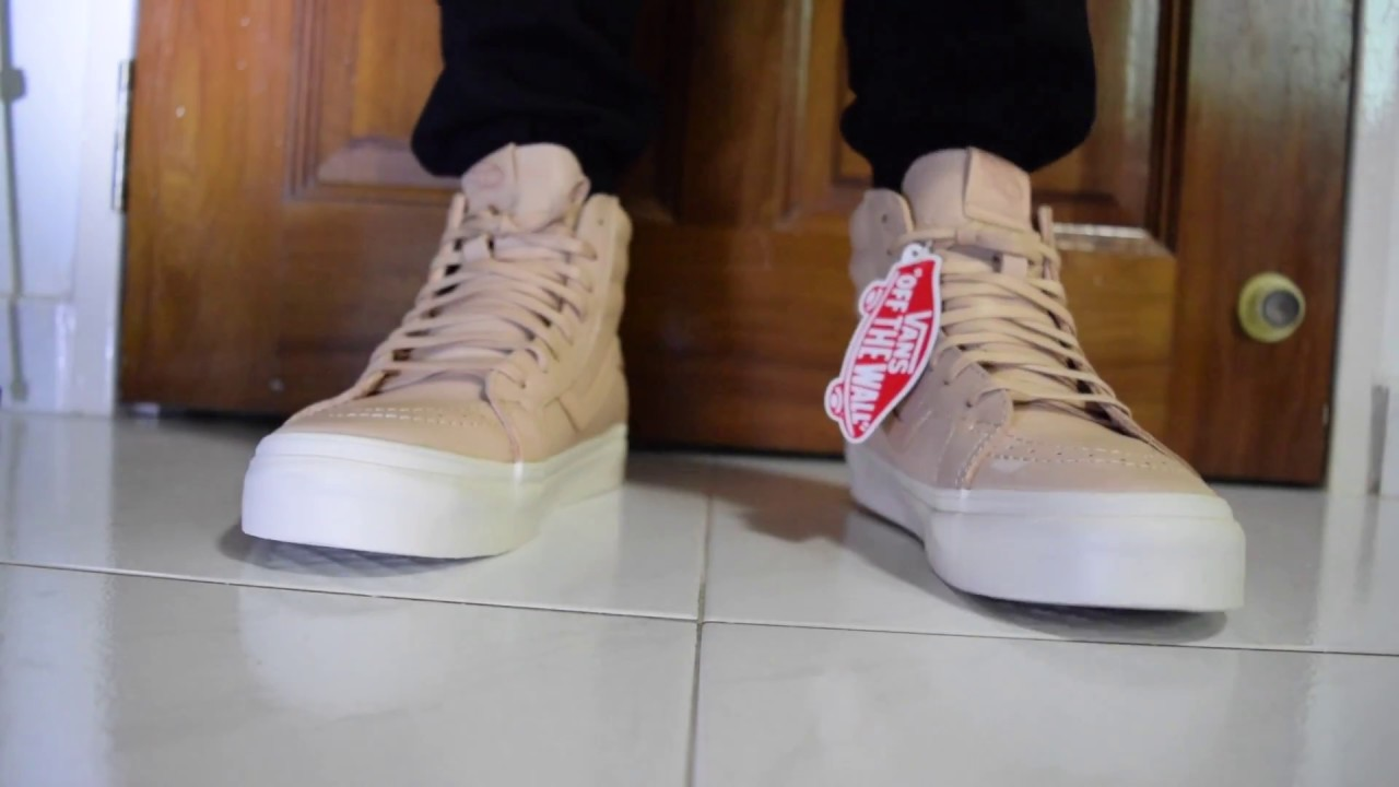 ecf4f23d1b On Feet - Vans Sk8-Hi Reissue Zip (Vegetable Tan Leather) - YouTube