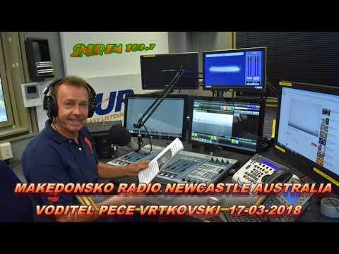 MAKEDONSKO RADIO 2NUR 103.7 FM NEWCASTLE AUSTRALIA 17-03-2018