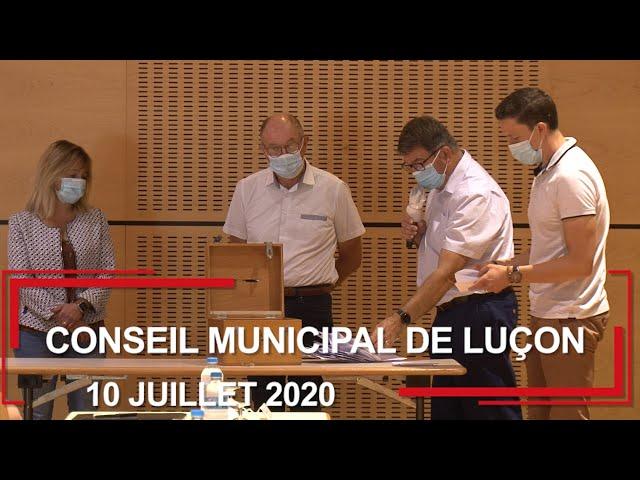 Conseil municipal de Luçon du 10 juillet 2020