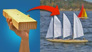 CHEAP RC SAILBOAT 2x4 challenge!